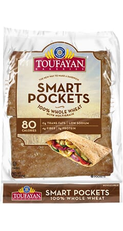 Toufayan Bakeries 100% Whole Wheat SmartPockets