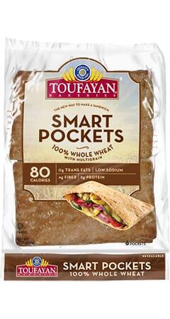 Toufayan Bakeries 100% Whole Wheat SmartPockets