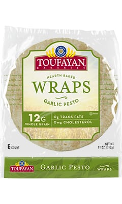 Toufayan Bakeries Garlic Pesto Wraps
