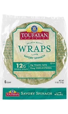 Toufayan Bakeries Savory Spinach Wraps