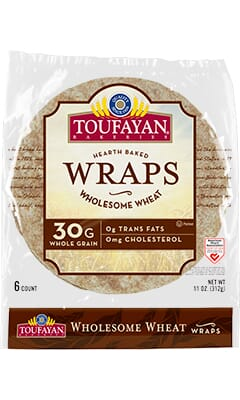 Toufayan Bakeries Wholesome Wheat Wraps