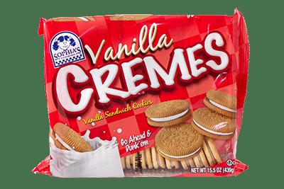 Sophias Vanilla Cremes Sandwich Cookies