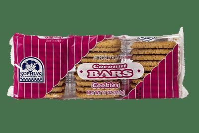 Sophias Coconut Bars Cookies