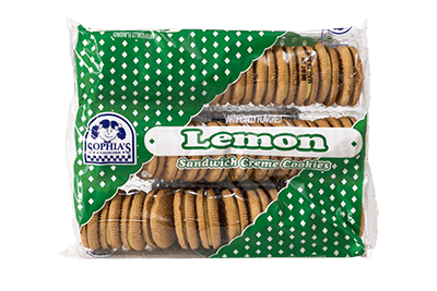 Sophias Lemon Sandwich Creme Cookies