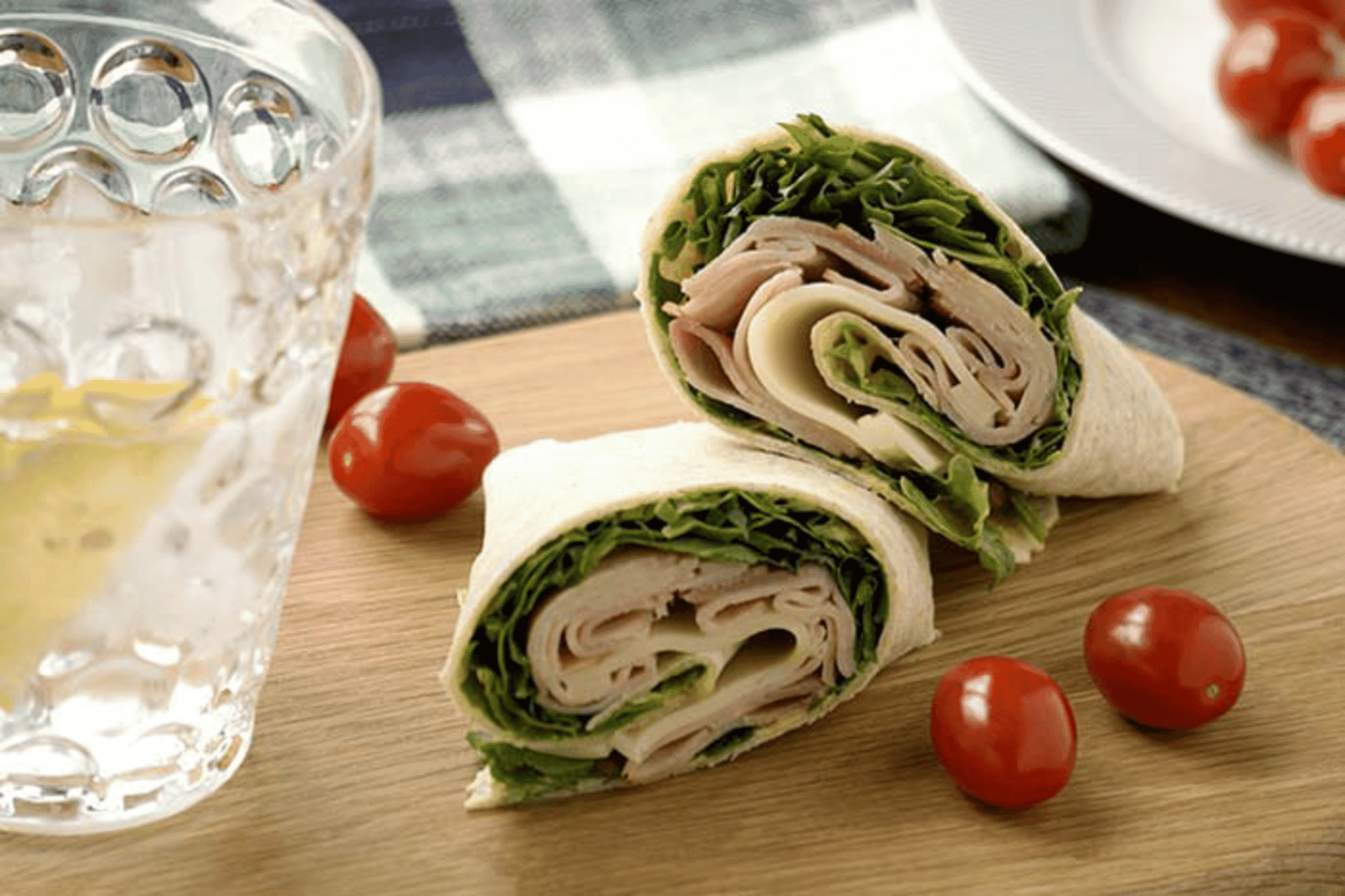 Gluten Free Ham and Cheese Wrap
