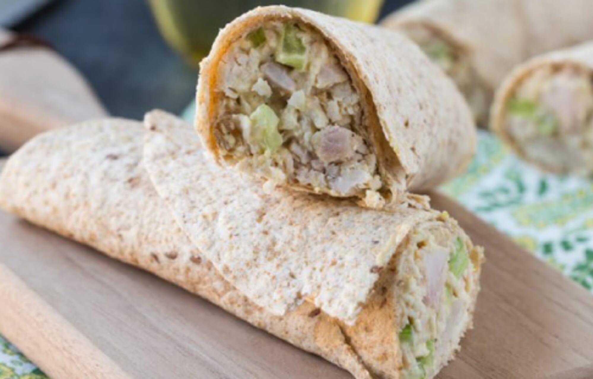 Hummus Chicken Salad Wraps