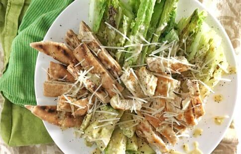 Grilled Chicken Caesar Pita Salad
