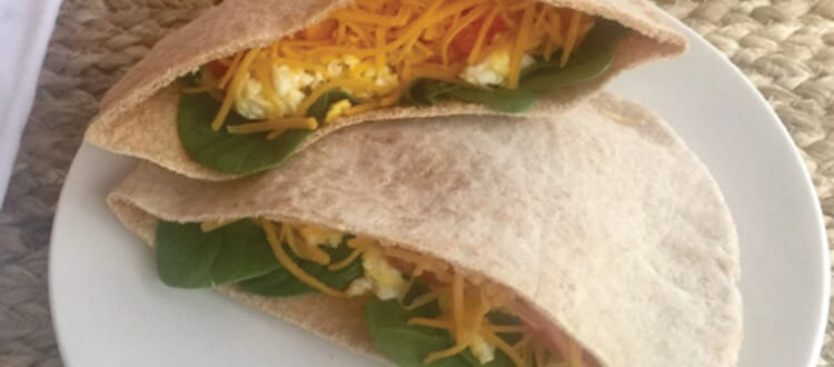 Easy Take with You Healthy Breakfast Pita