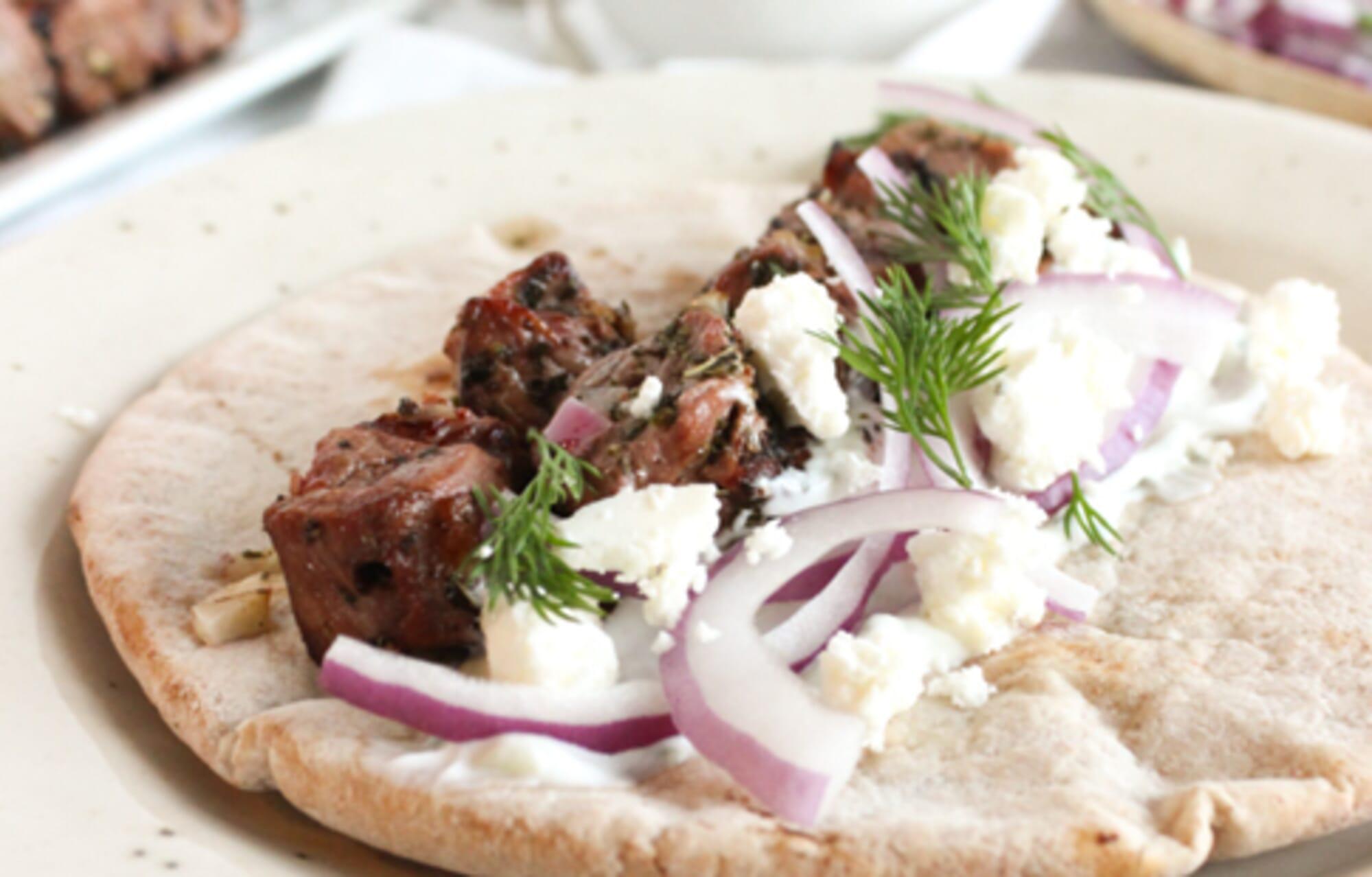 Greek Lamb Souvlakis