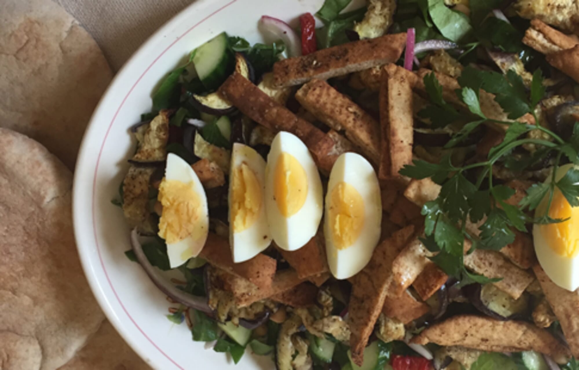 Mediterranean Chopped Pita Salad