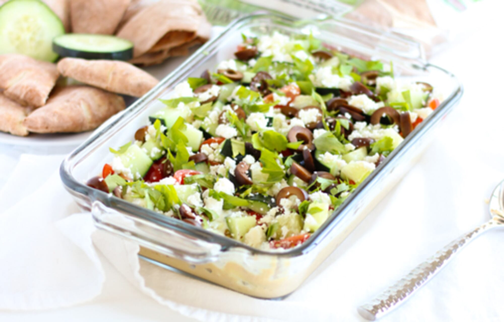 Healthy Greek 7 Layer Dip