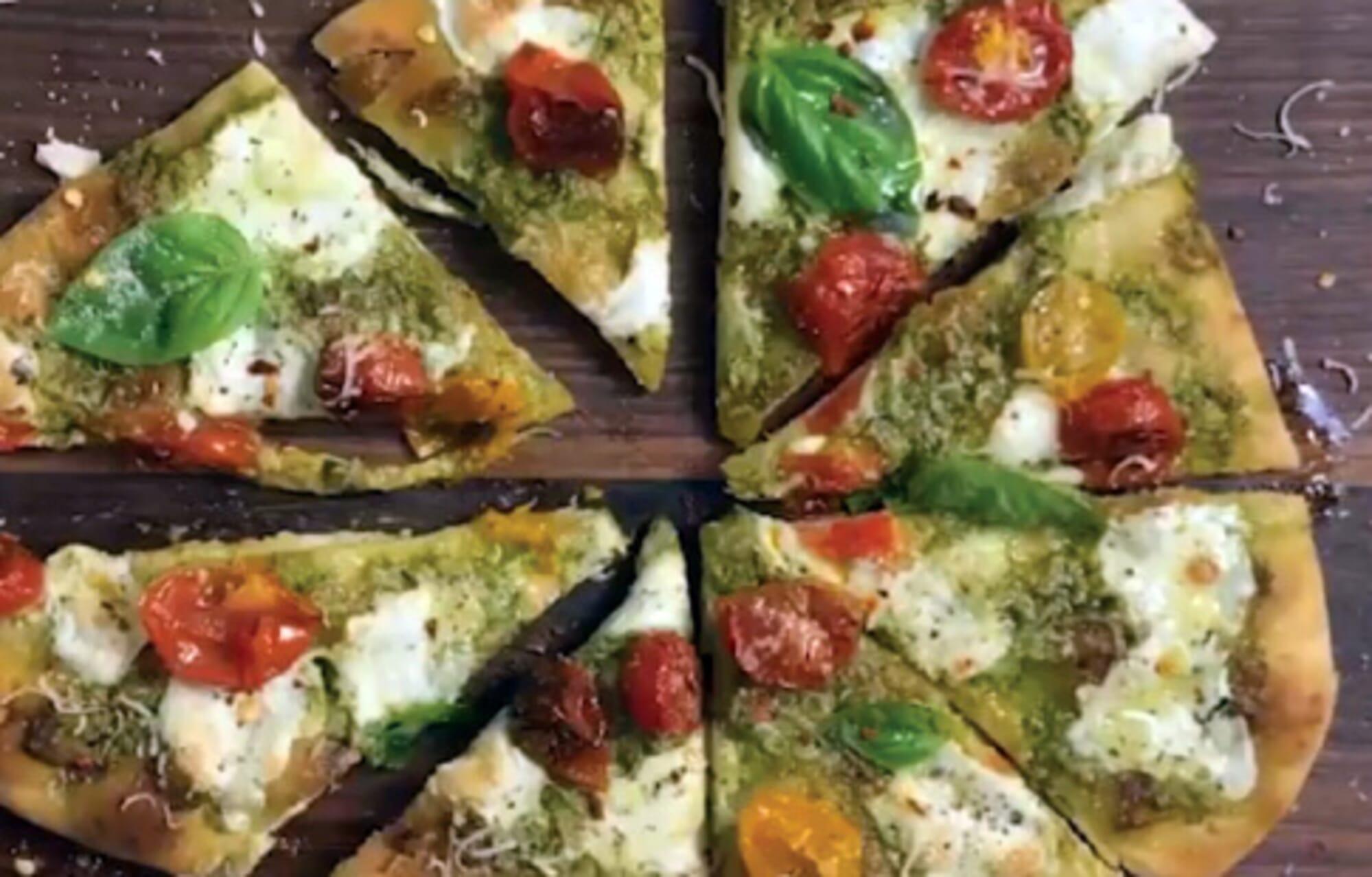 Organic Garlic Naan Pizza