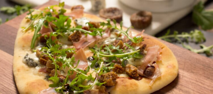 Fig & Blue Cheese Naan Pizza