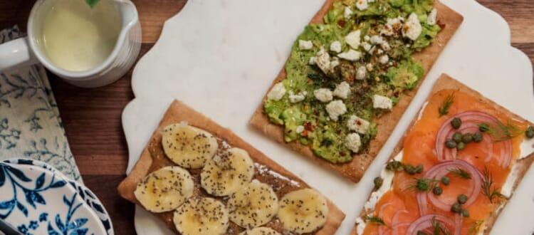 Breakfast Pita Toast 3 Ways