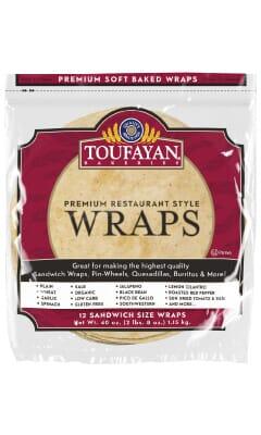 Toufayan Premium Garlic Food Service Wraps