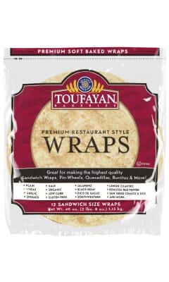 Toufayan Premium Gluten Free Food Service Wraps
