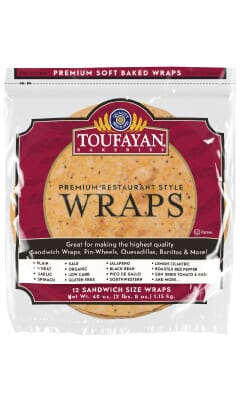 Toufayan Premium Jalapeno Food Service Wraps