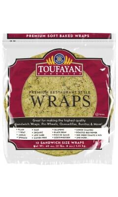 Toufayan Premium Kale Food Service Wraps