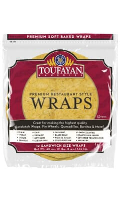 Toufayan Premium Lemon Cilantro Food Service Wraps