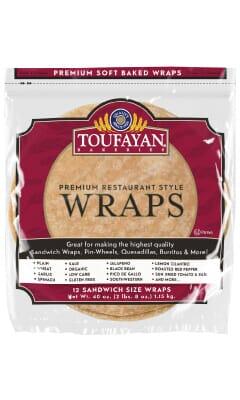 Toufayan Premium Low Carb Food Service Wraps