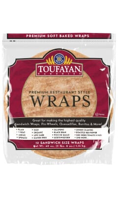 Toufayan Premium Organic Food Service Wraps
