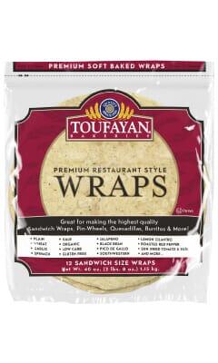 Toufayan Premium Pico De Gallo Food Service Wraps