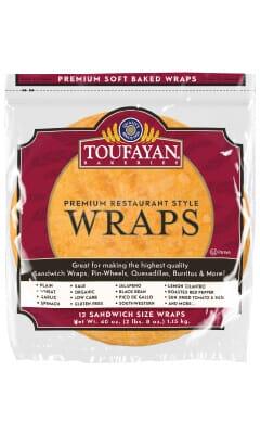 Toufayan Premium Sundried Tomato & Basil Food Service Wraps