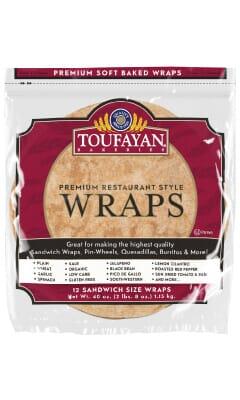 Toufayan Premium Wheat Food Service Wraps