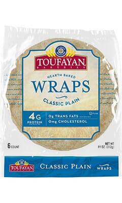 Toufayan Bakeries Classic Plain Wraps