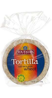 Toufayan Bakeries Tortilla Soft Taco Style Wheat
