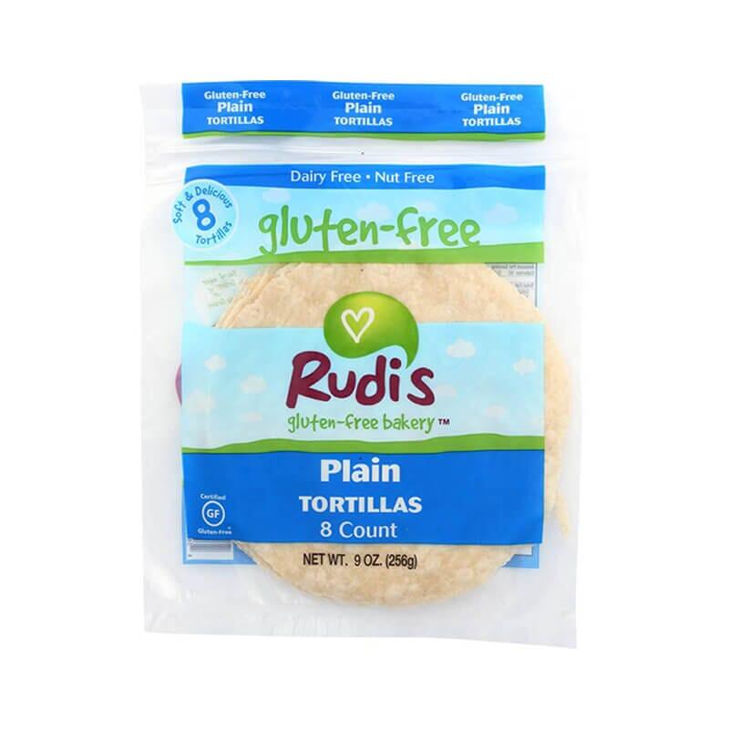 Rudis Gluten Free Bakery Plain Tortillas Nut Free Dairy Free