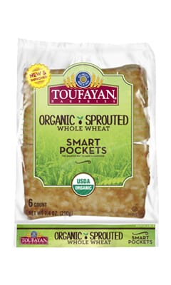 Toufayan-Smart Pockets-Organic-Sprouted-Whole-Wheat