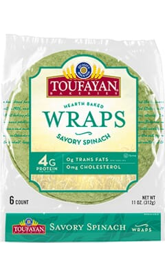 Toufayan-Spinach-Wraps