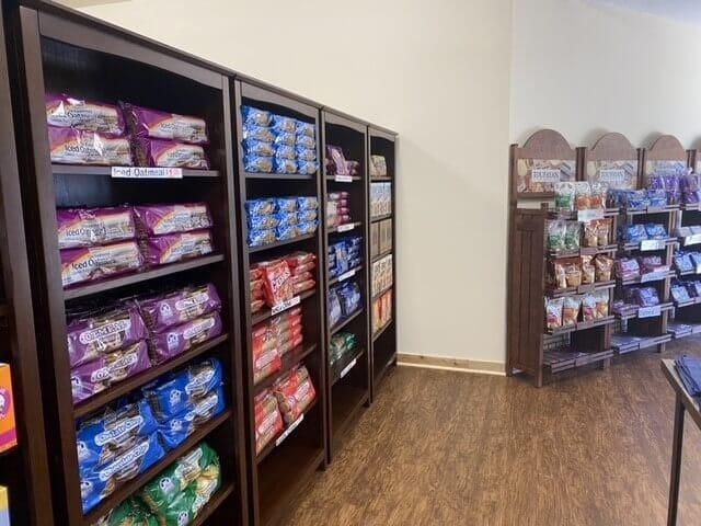 shelves of cookies